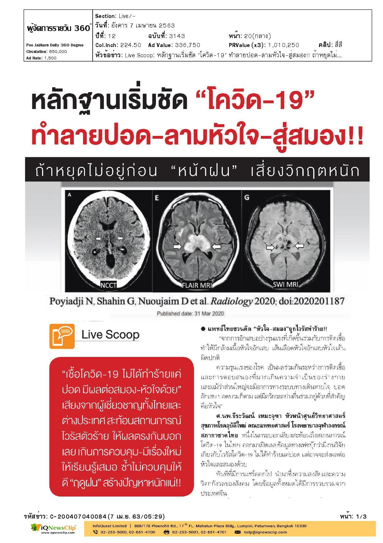 ข้อมูลงานวิจัยโควิด-19 ในไทย