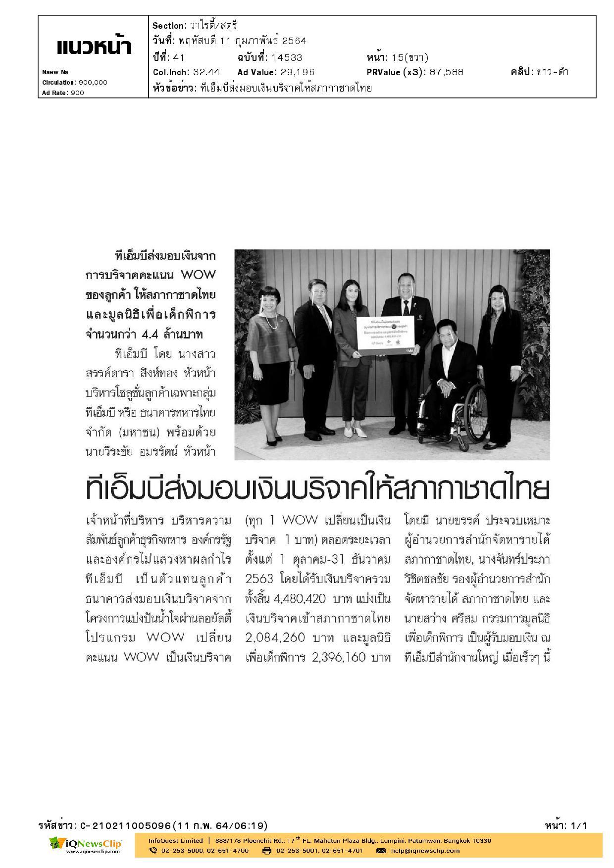 บริจาคให้แก่สภากาชาดไทย