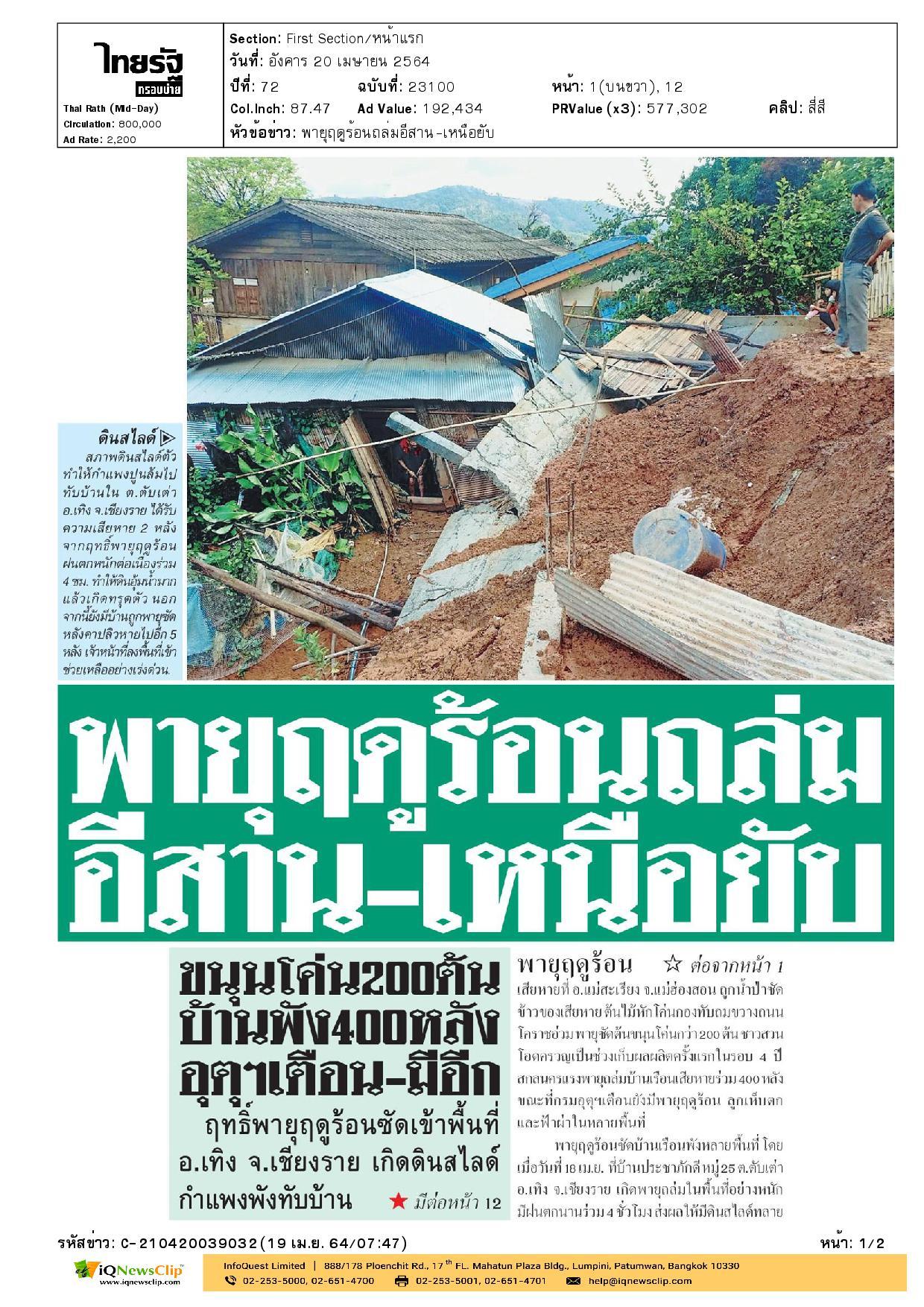 เหล่ากาชาดจังหวัดสกลนคร บรรเทาทุกข์ลงพื้นที่ให้ความช่วยเหลือชาวบ้านหลังเกิดพายุฤดูร้อน